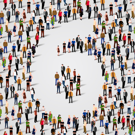 Large group of people in number 6 six form. Vector seamless background Vector