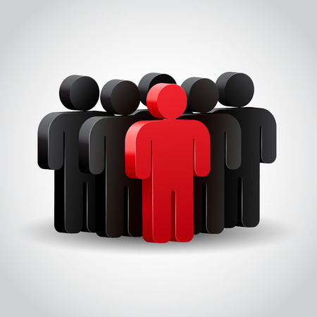 Team leader or company boss. Concept 3D illustration Illustration