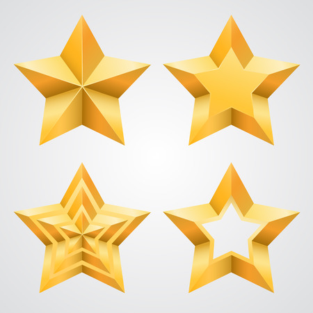 pointed: The collection of stars art. Vector illustration Illustration