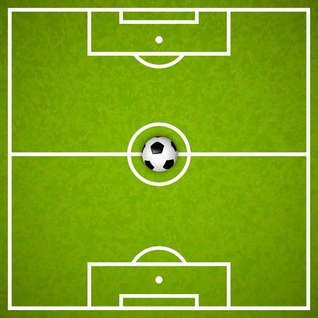 campo di calcio: Campo di calcio con la copertura della sfera dell'arte. Illustrazione vettoriale