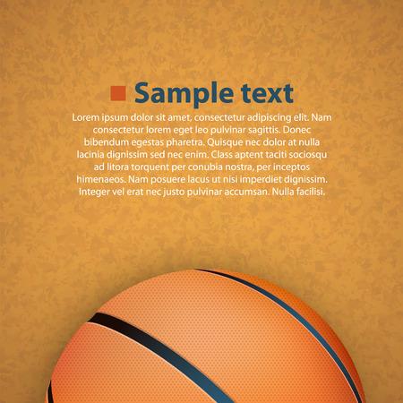 college basketball: Basketball on the floor art. Vector illustration