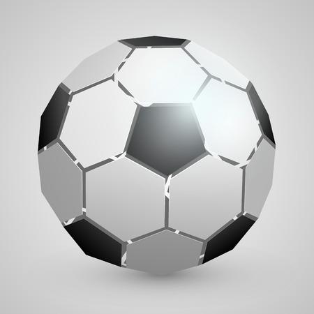 10eps: Abstract soccer 3d ball art. Vector illustration