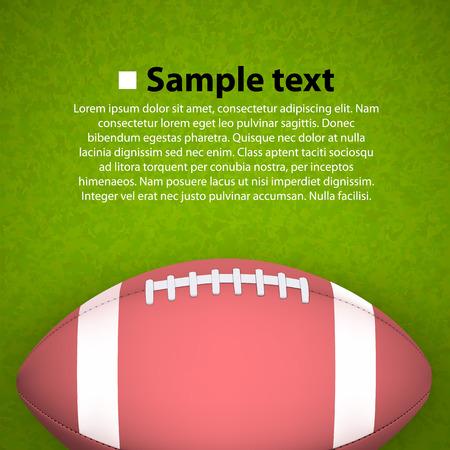 campo di calcio: Rugby palla sul campo. Illustrazione vettoriale