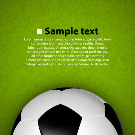 Balón de fútbol en el campo. Ilustración vectorial Vectores