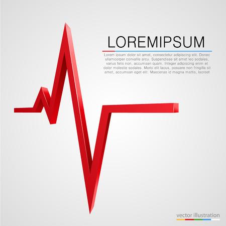 ecg heart: Cardiogram wave background. Medicine concept. Vector illustration Illustration