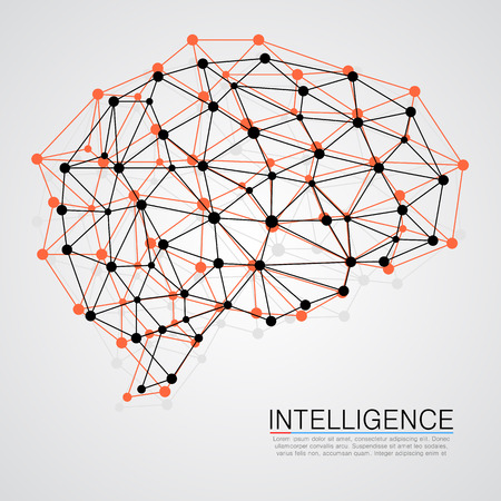 conexiones: Concepto creativo del cerebro humano. Ilustraci�n vectorial