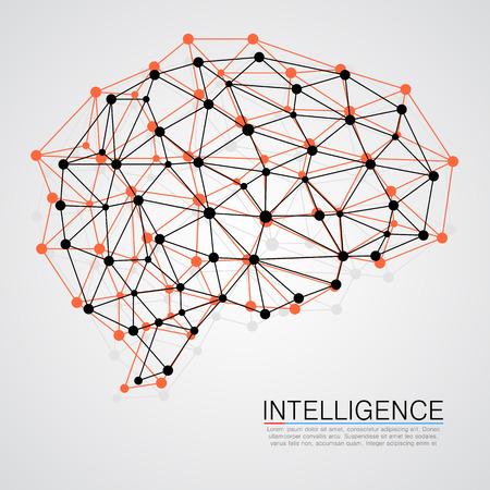 Kreatives Konzept des menschlichen Gehirns. Vektor-Illustration