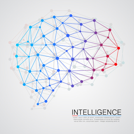 connections: Creative concept of the human brain. Vector illustration