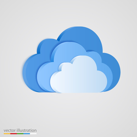 three layer: Three layer of blue clouds. Vector illustration