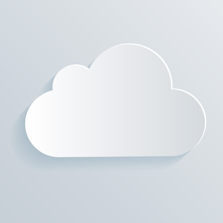 cloud vector: Cloud white icon symbol. Clean vector illustration.