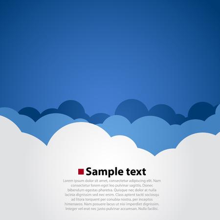 ciel avec nuages: Ciel nuageux de fond moderne. Simple illustration vectorielle Illustration