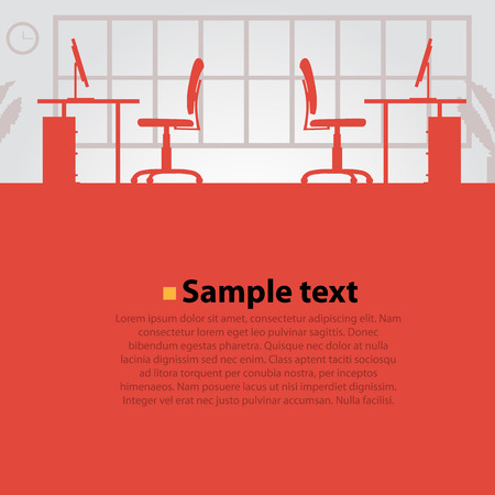 Office workplace vector bright background. Vector illustration