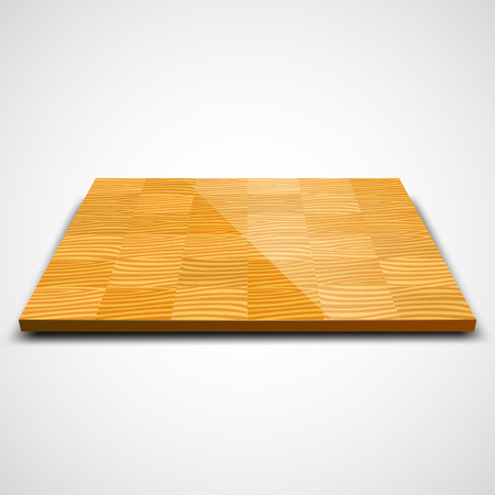 building materials: Vector illustration of parquet wood floor isolated on white.