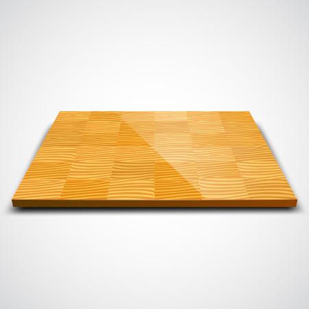 wood room: Vector illustration of parquet wood floor isolated on white.