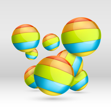 Colorful ball of tape art. Vector illustration Vector