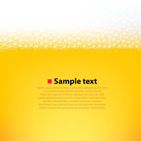 泡立ったビール明るい背景。きれいなベクター イラスト  イラスト・ベクター素材