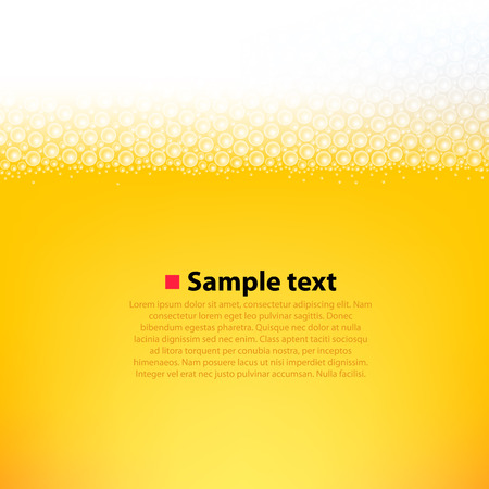 Foamy beer bright background. Clean vector illustration Çizim