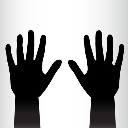Pair of black hands background. Vector illustration Vector