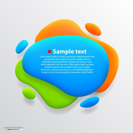 Color blot banner art creative. Vector illustration Vector