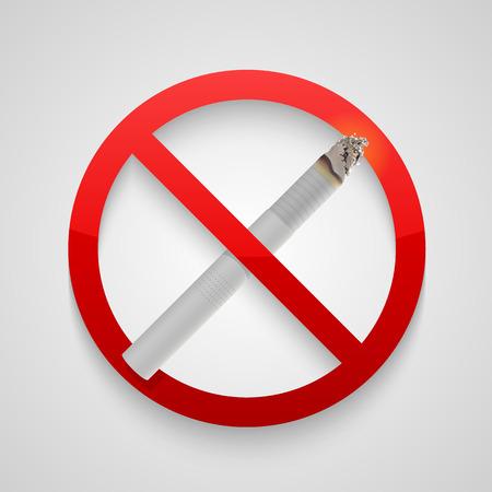 butt: Sign no smoking allowed. Vector illustration art