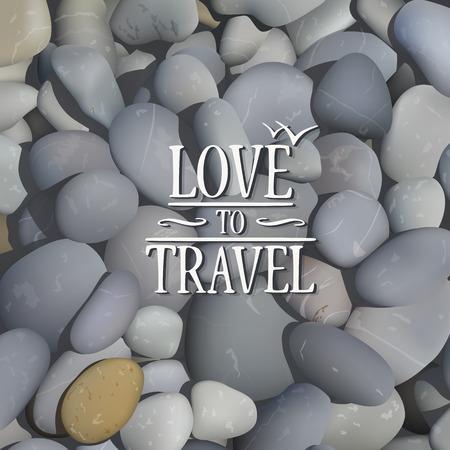stone background: Stone background art banner travel. Vector illustration