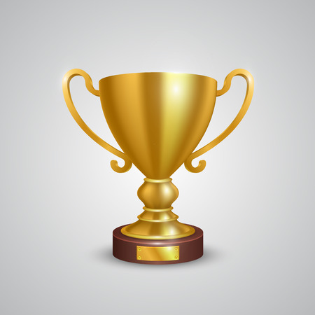trophy: Cup holder on a white background. Vector illustration