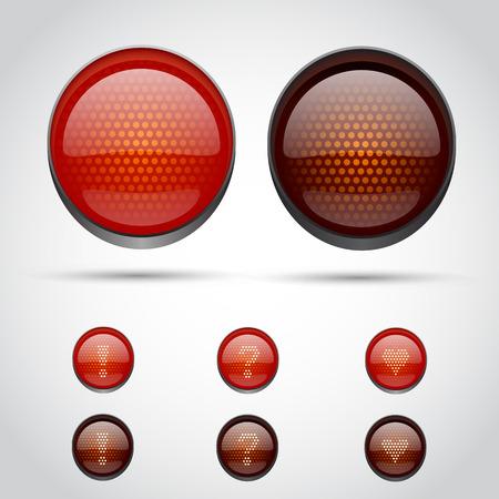 stop light: Traffic lights isolated on white. Vector illustration