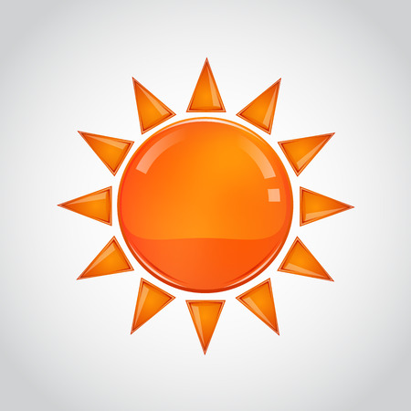 synopsis: Abstract orange sun on white background. Vector illustration Illustration