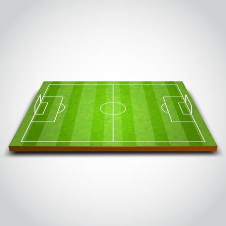 Duidelijke groene voetbal of voetbalveld. Vector illustratie