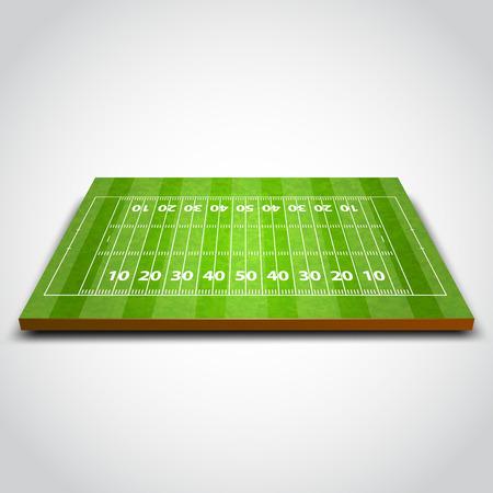 terrain de foot: Le rugby vert clair ou sur le terrain de football. Vector illustration