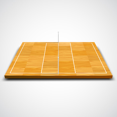 court symbol: Clear 3d volleyball field on white background. Vector illustration Illustration