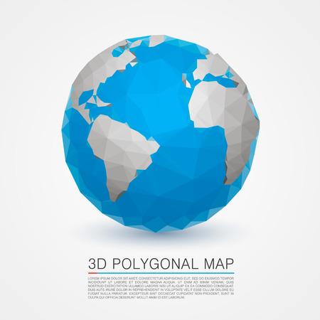 realist: Planet network earth art . Vector illustration