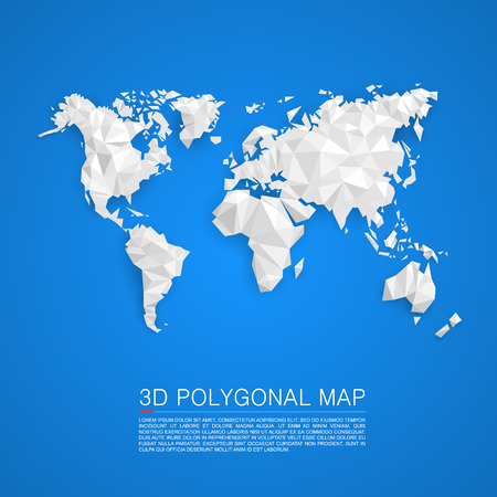 Map 3d polygon art map. Vector illustration Vector