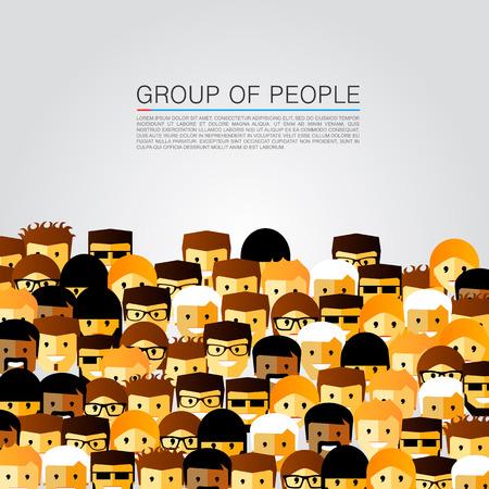 multitud gente: Gran grupo de personas arte. Ilustración vectorial Vectores
