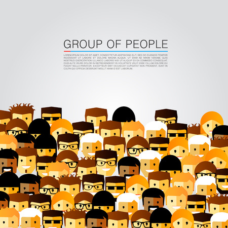 multiple targets: Large group of people art. Vector illustration