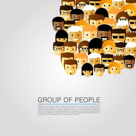 grupo: Gran grupo de personas arte. Ilustración vectorial Vectores