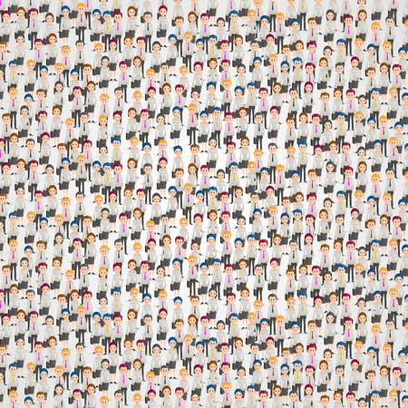 Large group of people art. Vector background