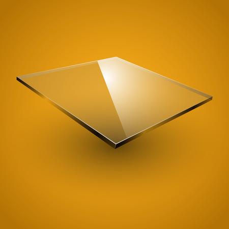 plexiglas: Glass framework on yellow background. Vector illustration. Illustration