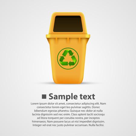utilize: Ecological trash box art . Vector illustration Illustration