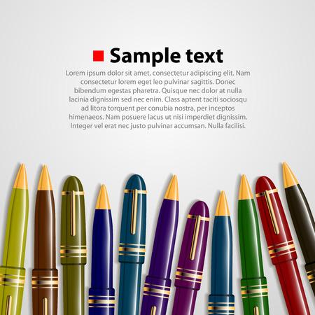 cover art: Pen colore di sfondo copertina. Illustrazione vettoriale