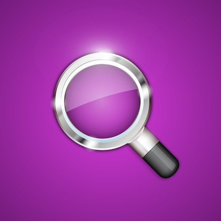 optical glass: Magnifying glass art object sign. Vector illustration