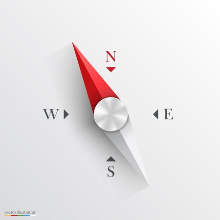 Kompass auf weißem Hintergrund. Vektor-Illustration. Standard-Bild - 35968569