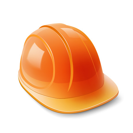 mine site: Construction helmet on a white background. Vector illustration