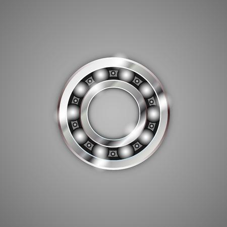 ベアリング: 軸受金属アート オブジェクト記号です。ベクトル イラスト