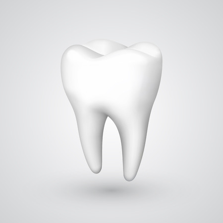 Vector tooth object. Vector illustration art 10eps
