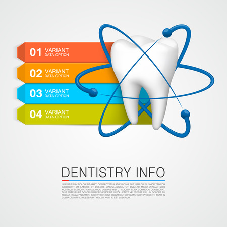 cavities: Dentistry info medical art creative. Vector Illustration
