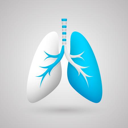 medische kunst: Menselijke longen medische kunst creatief. Vector illustratie
