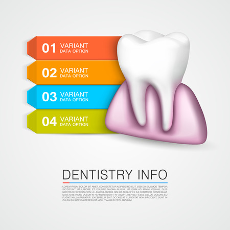carious: Dentistry info medical art creative. Vector Illustration
