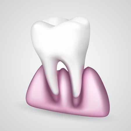 gums: Tooth had fallen out of the gums Illustration