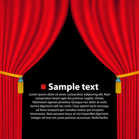theatre audience: Theater curtain background art banner. Vector illustration